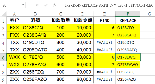 Excel資料處理: RIGHT、LEN、TRIM、MID、FIND、REPLACE文字函數 文字函數 第6張