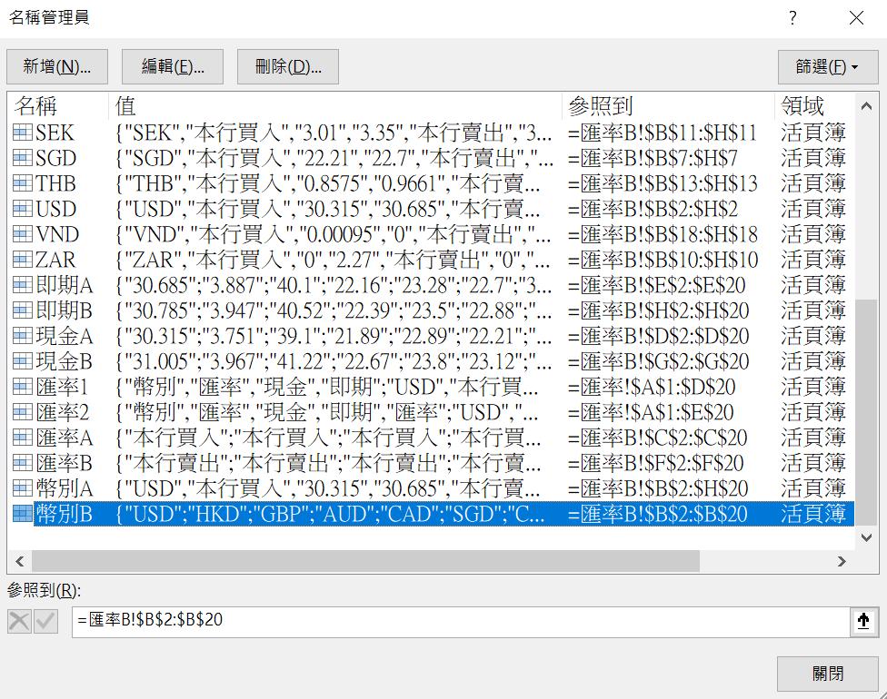 外幣評價表每月更新有點煩?Excel設定匯率名稱,靈活應用SUMIF和VLOOKUP函數 VLOOKUP 第8張