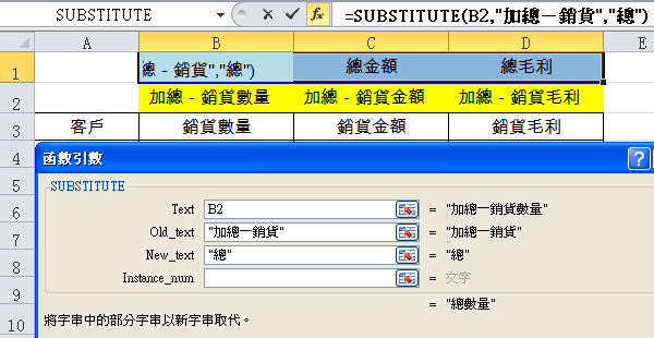 Excel文字函數整理報表:CONCATENATE、SUBSTITUTE、選擇性貼上值 文字函數 第4張
