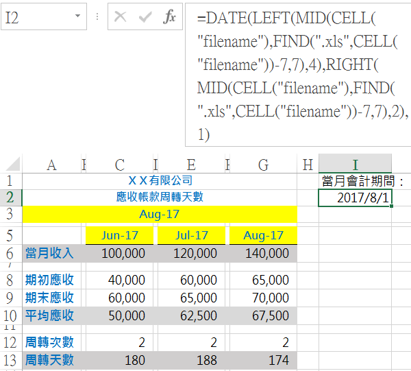 【Excel CELL函數應用】會計期間更新為例,一次學會DATE、TODAY、FIND、MID函數 日期函數 第7張