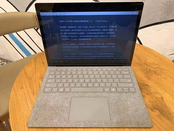 Surface Laptop寫文章
